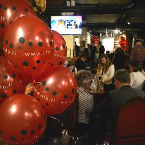 SFP ballonger på valvaka på Bocks i Vasa