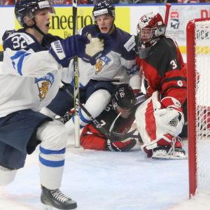 I förra säsongens junior-VM gjorde Aleksi Heponiemi två mål.