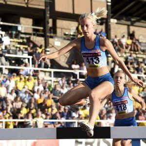 Camilla Richardsson löper i Sverigekampen.
