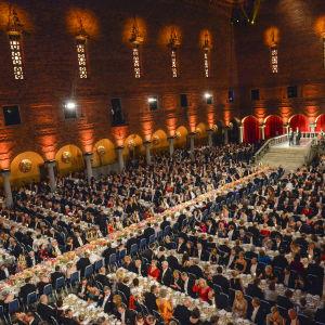 Nobelbanketten i Stockholm den 10 december 2015.