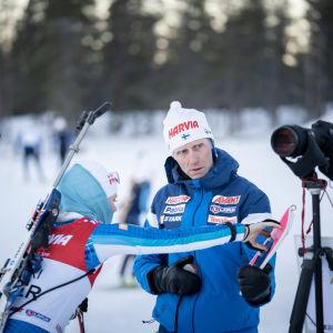 Jonne Kähkönen ja Mari Eder
