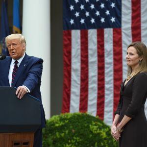 Trump och Coney Barrett 26.9