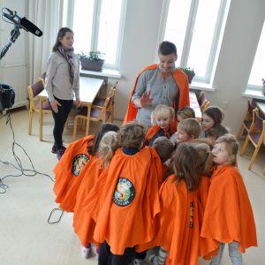 Superhjälparna inspelning i Borgå