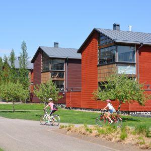 Trähus på Västra åstranden i Borgå