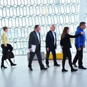 Statsministrarna från Norge Erna Solberg, Danmark Mette Frederiksen, Sverige Stefan Löfven, Finland Antti Rinne och Island Katrin Jakobsdottir samt regeringschefen för Grönland Kim Kielsen hörde till dem som träffades i Reykjavik på tisdag.