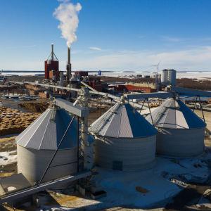 Stora Ensos fabrikområde.