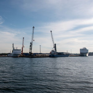 Västra hamnen i Hangö.