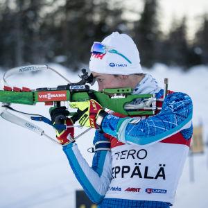 Tero Seppälä vid stående skyttet