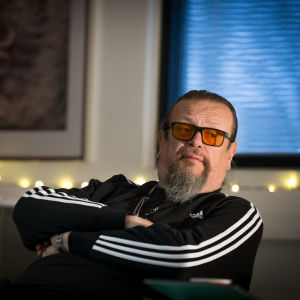 Solar Films elokuva-alan tuotantoyhtiön omistaja ja vastaava tuottaja Markus Selin, toimisto, Lauttasaari, 27.11.2017.