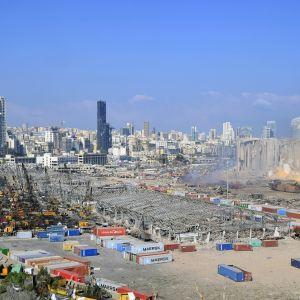 Beirutin satama on tärkeä Libanonille ja koko alueelle. Se vaurioitui pahasti tiistain räjähdyksessä.