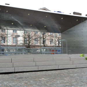 Den nya torgscenen i Vasa står på Nedre torget.