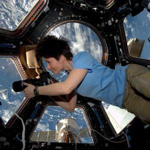 astronautti Samantha Cristoforetti ISS:llä