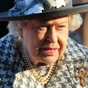 Drottning Elizabeth i januari 2020.