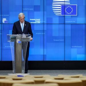 Lehdistötilaisuus EU:n huippukokouksesta