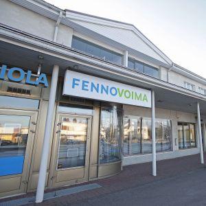 Fennovoiman toimisto Pyhäjoen keskustassa 7. marraskuuta 2016.