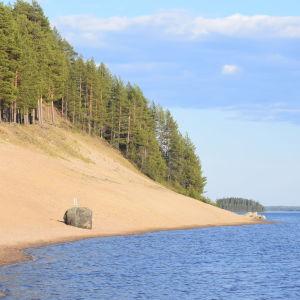 Sotkamon keskustassa oleva uimaranta eli Hiukka.