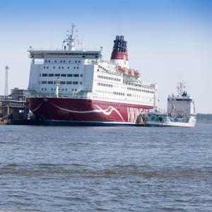 Viking Line Katajanokan terminaalissa.