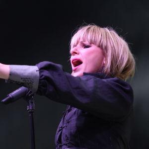 Pandora på scen i Helsingfors 2014.