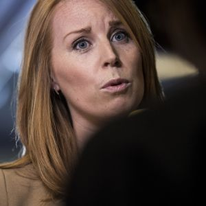 Svenska Centerpartiets partiledare Annie Lööf.