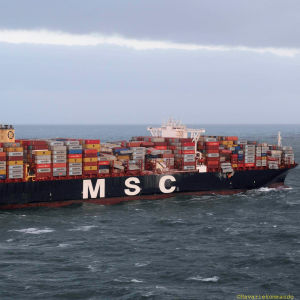 Lastfartyget MSC Zoe som seglar under Panamas flagga, är en av det största i sitt slag i världen