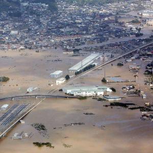 Översvämningar i Nagano.