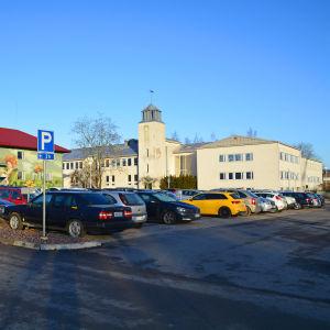 En parkeringsplats.
