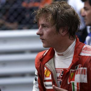 Kimi Räikkönen ajoi suurimman osan F1-urastaan Ferrarilla.