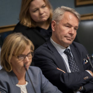 Pekka Haavisto eduskunnassa 24.10.2019