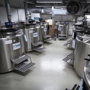 Biomedicumin syväjäädystyshuone.