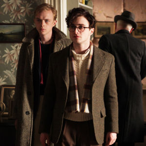 "Scen ur filmen ""Kill Your Darlings"". Från vänster: Dane DeHaan, Daniel Radcliffe."