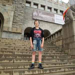 Nuutti Auvinen, 13 vuotias transsukupuolinen henkilö.