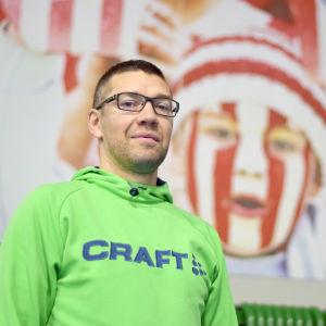 """Jan """"Janne"""" Hagman, juniortränare i Handboll inom BK-46."""