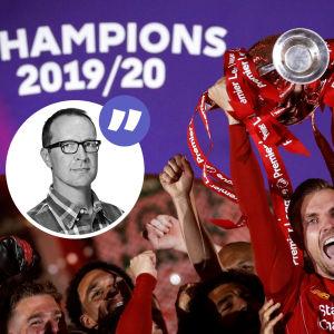 Liverpool firar Premier League-titeln.