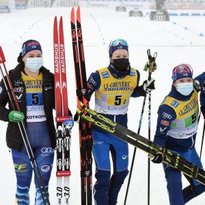 Krista Pärmäkoski, Laura Mononen, Kerttu Niskanen och Johanna Matintalo åkte i Finlands förstalag.