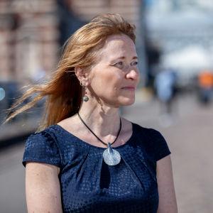 Kaupan liiton edunvalvontajohtaja Tuula Loikkanen, Eteläranta, Helsinki, 18.6.2019.
