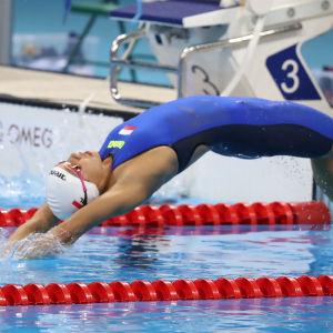 Polska simmaren Alicja Thorz i aktion i OS i Rio 2016.