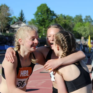 Drumsö lågstadieskola vann 5 x 80 m flickor, Stafettkarnevalen 2018.