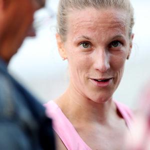 Camilla Richardsson under en tävling i Vasa.
