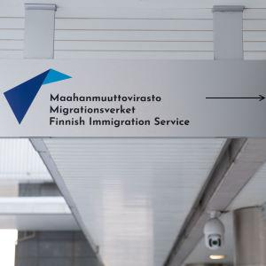 Maahanmuuttovirasto Helsingissä. 3.2.2021.