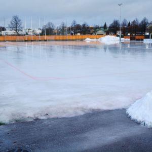 Centralidrottsplanen i Borgå vintern 2020