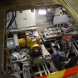 Tomt motorrum på M/S Eivor.