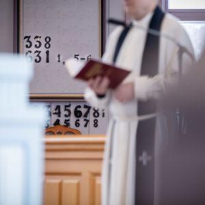 Anonyymi valokuva hautajaisista, Virtain kirkko, Jyväskylä, 22.3.2019.