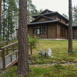 Japanilaistyylinen talo, mäntyjä