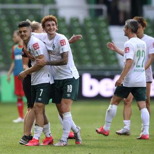 Bremenspelare firar