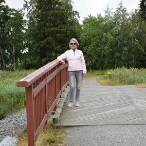 Barbro Nedermo vid Kråknäsgrunden i Vasa.