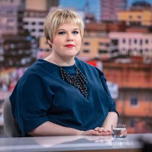 Annika Saarikko i Aamu-tv den 30.4.2021