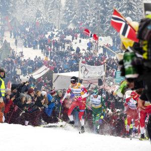 Skidtävling i Holmenkollen.