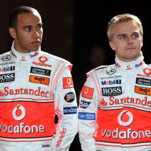 Lewis Hamilton och Heikki Kovalainen var stallkamrater i två år, 2008–2009.