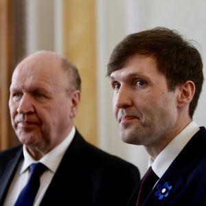 Inrikesminister Mart och finansminister Martin Helme, far och son i Estlands regering.