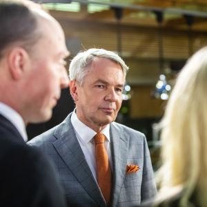 Eduskuntavaalit 2019. Pikkuparlamentin tulosilta. Jussi Halla-aho ja Pekka Haavisto.